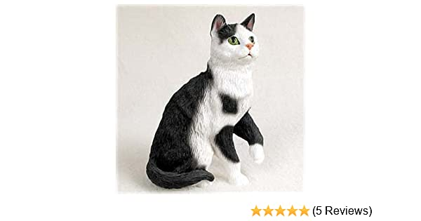 Amazon.com: Black & White Cat Figurine: Toys & Games