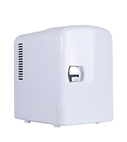 Portable 6 Can Mini Fridge Cooler - Home,Office, Car or Boat - AC & DC - White - 110/120V by Genric
