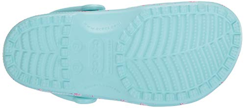 4iu Crocs Mixte Classic Adulte pink Bleuice Blue Seasonal Graphic ClogSabots n0wkN8OXP