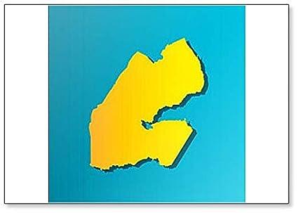 Amazon.com: African State - Djibouti Map Classic Fridge ...