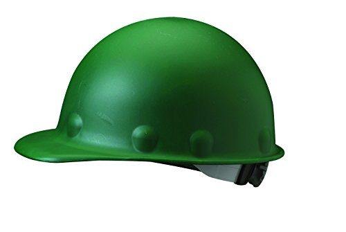 (Fibre-Metal by Honeywell P2ARW74A000 Super Eight Ratchet Fiber Glass Cap Style Hard Hat, Green)