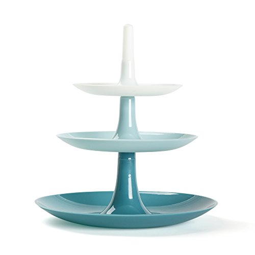 Blue 3 Tiered Serving Tray - 9