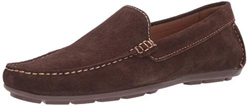 Driver Club USA Mens Leather Made in Brazil San Diego Loafer Driving Style, Brown Suede, 8.5 D(M) US Brown Suede Leather Loafer