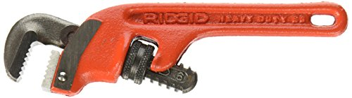 RIDGID 31050 E-6 End Pipe Wrench, 6-inch Plumbing Wrench Aluminum End Pipe Wrench