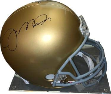 2fbb0f3950a Joe Montana signed Notre Dame Fighting Irish Riddell Full Size TB Authentic  Helmet- Hologram -
