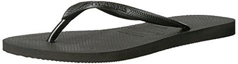 Havaianas Women's Slim Sandal Flip Flop, Black, 35/36 BR/5-6 M US (Green Flip Flops)
