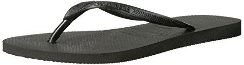 Havaianas Women's Slim Sandal Flip Flop, Black, 39/40 BR/9-10 M US