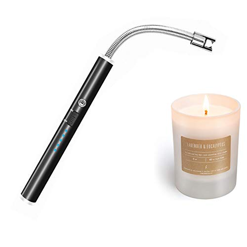 Candle Lighters Long, USB Rechargeable Flameless Arc Lighter Flexible and Windproof for Candles, Hiking, Camping, Kitchen,Fireplace,etc