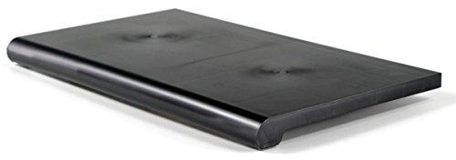 """Displays2go 13"""" x 24"""" Bullnose Slatwall Shelf, Set of 4 – Black (AMZSWDS1324BK) by Displays2go"""