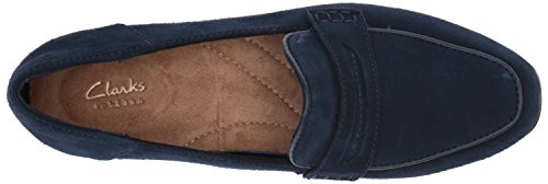 Clarks Vrouwen Keesha Cora I Penny Loafer Marine Suede