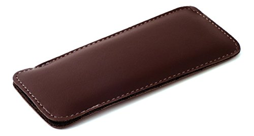 Mens Half Slip Soft Slip In Eyeglass Case in Brown