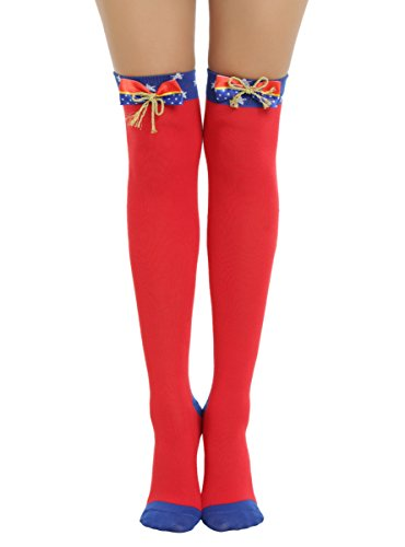 DC Comics Wonder Woman Cosplay Over-The-Knee - Wonder Over Knee Socks Woman The