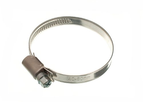 200 X Hose Clamp Jubilee Clip 40Mm - 60Mm Ss Stainless Steel by DIRECT HARDWARE
