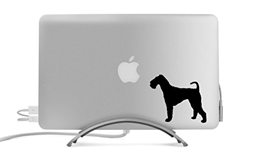 Airedale Terrier Dog Silhouette Five Inch Black Decal for Car, Truck, MacBook, Laptop, Etc.