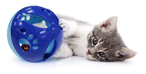 Pets First CAT TOYS Interactive Toys For Cats. Cat Ball Bell Toy|Electric Smart Spinning Feather Cat Toy|Punching Ball Scratching Cat Board| Cat Scratcher Spinning Mouse Toy Exercise for Cats/Kitten