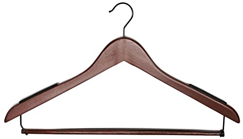 Tidy Living - Heavy Duty Luxury Designer Solid Wood Suit Hangers (100) by Tidy Living