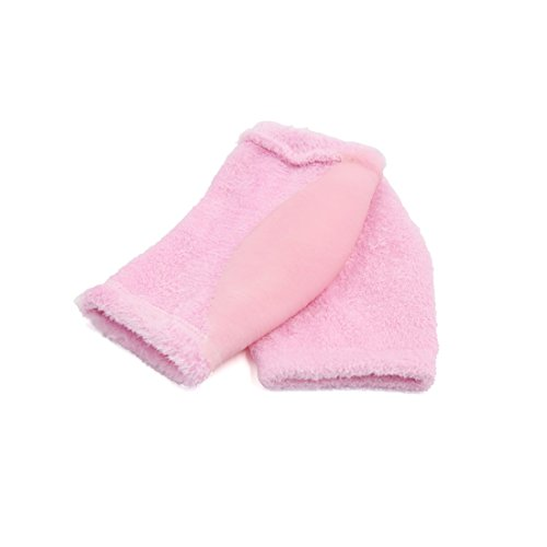 2 Pairs Soften Dry Cracked Skin Moisturizing Exfoliating Elbow Gel Cover Sleeves Pink by uxcell (Image #4)
