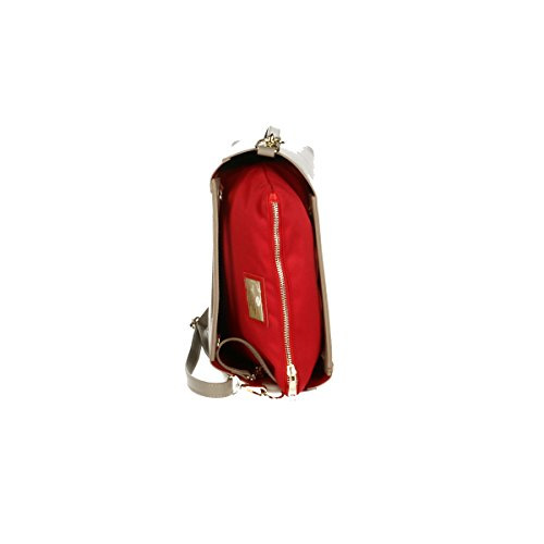Chicca Borse Piel genuina bolso 20x17x7 Cm barro