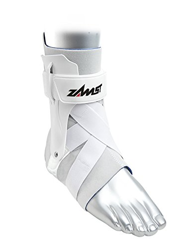 Zamst A2-DX Strong Support Ankle Brace, White, Large - Right by Zamst (Image #2)