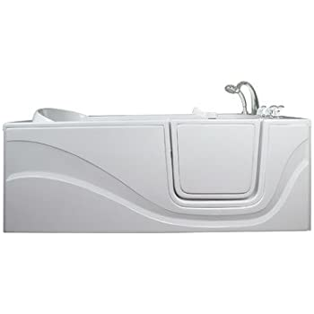 Exceptional Lay Down Long Soaking Whirlpool Walk In Tub Drain Location: Right