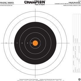 Champion Traps and Targets Re-Stick 100 Yard Small Bore Rifle Target (16 x (100 Yard Small Bore Rifle)