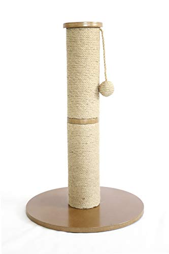 AmazonBasics Cat Scratching Post Tree - 16 x 16 x 24 Inches, Beige (Cat Scratching Post Tall)