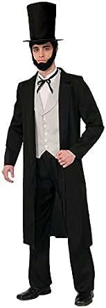 Forum Novelties Men's Abraham Lincoln Deluxe Costume, Black, Standard