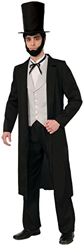 Lincoln Costume Abe (Forum Novelties Men's Abraham Lincoln Xl Deluxe Costume, Black,)
