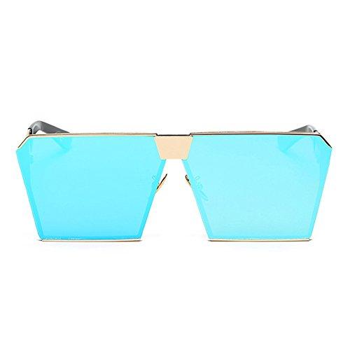 Miroir polarisées de objectif femme carré réfléchissant AMZTM glace bleue soleil Lunettes Surdimensionnés 8pn5cwWU