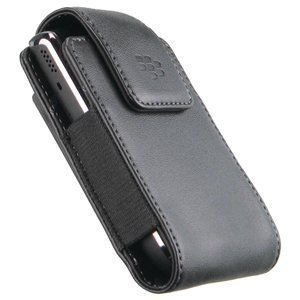 (Leather Vertical Pouch Case OEM #HDW-23466-001 for BlackBerry Curve 3G 9300 (Black))