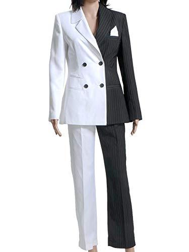 GOTEDDY Harvey Dent Costume Two-Face Suits Due Face Uniform Black White Outfit M -