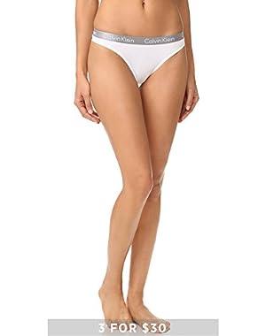 Calvin Klein Underwear Women's Radiant Cotton Thong, White, X-Large!