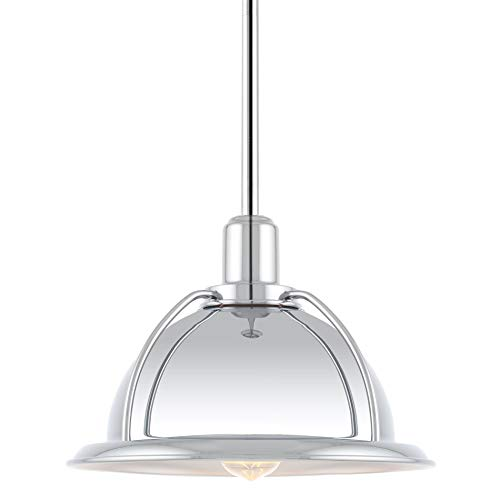 Chrome Industrial Pendant Light in US - 5