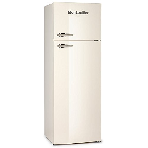 Montpellier MAB345C Retro Top Mount Freestanding Fridge Freezer Cream