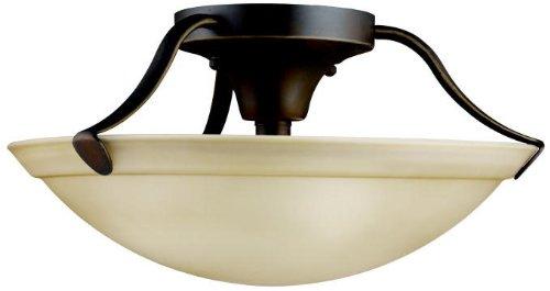 Kichler 3627OZ Semi-Flush 3-Light, Olde Bronze