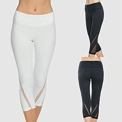 SMILEQ Pantalones de Yoga para Mujer Hilado Neto Gimnasio ...