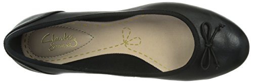 Noir Unique Femme Leather Taille Noir Couture Clarks Ballerines Black Bloom xYaCIwWqO