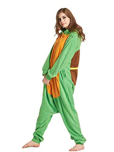One-Piece Pajamas Unisex Costume Adult Animal Onesie Sea Turtle Cosplay Homewear Lounge Wear Medium ()