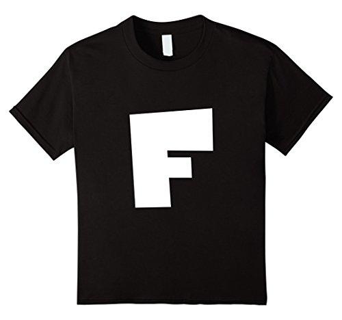 Price comparison product image Kids Alphabet Letter F - Upper Case F T-Shirt 6 Black
