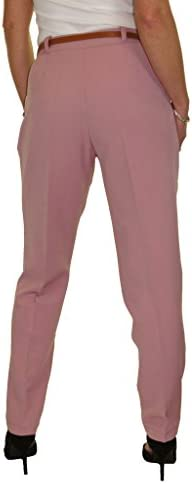 Washable Smart Office Day Trousers FREE Belt White NEW Size 8-22