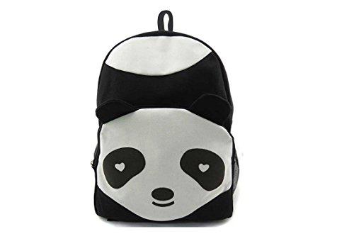 honeysuck Cute Panda Forma escuela bolsas de lona Casual estilo Viaje mochila