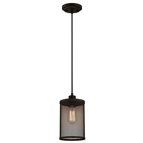 Westinghouse Lighting 6345400 One-Light Mini Pendant Oil Rubbed Bronze Finish with Mesh - Pendant Mesh Shade Ceiling