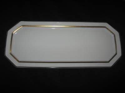 Bernardaud Prince Noir Long Rectangular Cake Plate & Amazon.com | Bernardaud Prince Noir Long Rectangular Cake Plate ...