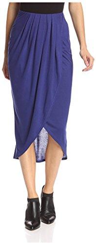 James & Erin Women's Tulip Slit Skirt