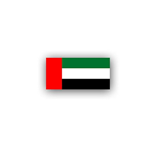 United Arab Emirates flag UAE federation emirates Arabic Abu Dhabi ancestral hereditary monarchy badge emblem for Audi A3 BMW VW Golf GTI Mercedes (7x3,5cm) - Sticker Wall Decoration - Abu Badge