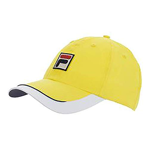 (Fila Unisex BNP Miami Cotton Adjustable Cap hat with Embroidered Logo)