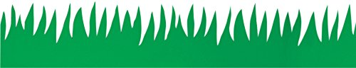 Hygloss Products Green Grass Bulletin Board Border - Classroom Board Trim - 3 x 36 Inches, 24 Strips