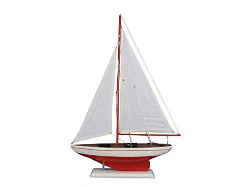 Hampton Nautical  Decorative Model Pacific Sailer Red 25