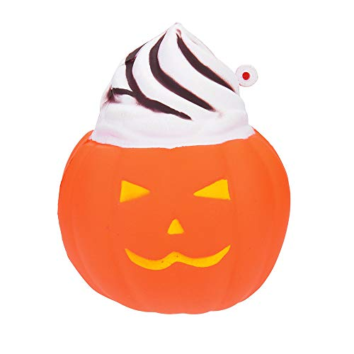 Squishys Toys, ZOMUSAR Halloween Pumpkin Scented Squishies Slow Rising Kids Toys Stress Relief (C) -