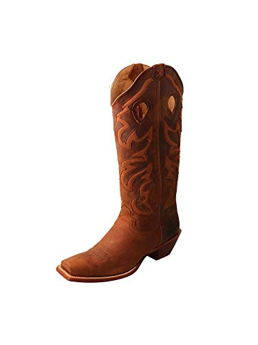 Twisted X Women's Buckaroo 16-Inch SS Toe Slip-On Cowboy Work Boots - ()